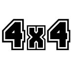 4 x 4 DECAL