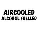 AIRCOOLED ALCOHOL FUELLED DECAL
